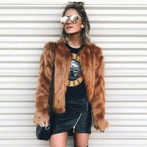 FOREVER 21 Luxe Faux Fur Jacket